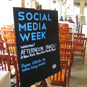 Social Media Week Sign