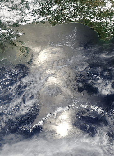 Oil Slick in the Gulf of Mexico - view as of May 18, 2010