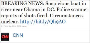 CNN's Tweet - September 11, 2009