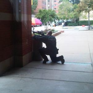 A sniper outside Johns Hopkins