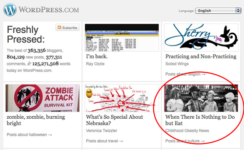 Childhood Obesity News featured on WordPress.com's Freshly Pressed