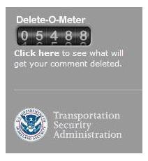 TSA Delete-O-Meter