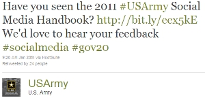 Army Twitter Status