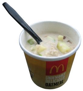 McDonalds Fruit and Maple Oatmeal