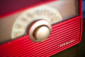 Vintage Red Radio