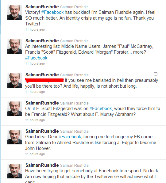 Salman Rushdie on Twitter