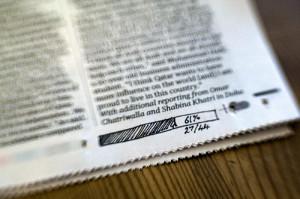 newspaper progress bar