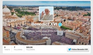 @Pontifex -- Twitter Account of Pope Benedict XVI
