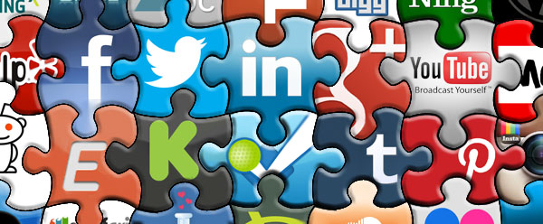 social media jigsaw banner