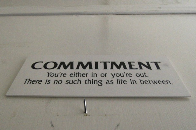 Commitment is the key to successful content marketing.