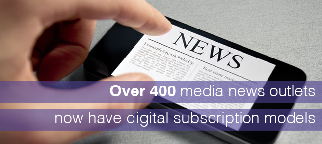 More than 400 news outlets have introduced a digital subscription model in recent years.