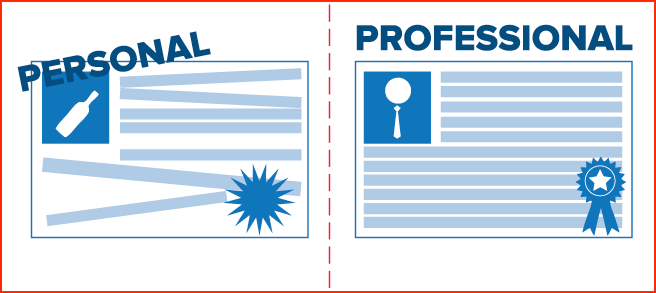 Separate Personal and Professional Profiles