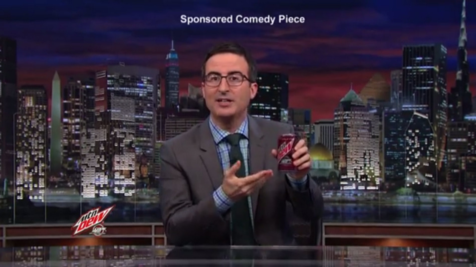 screenshot of John Oliver show on Native Advertising